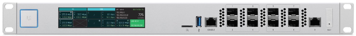 UBNT USG-XG-8 - 10 Gigabit SFP+ UniFi Security Gateway