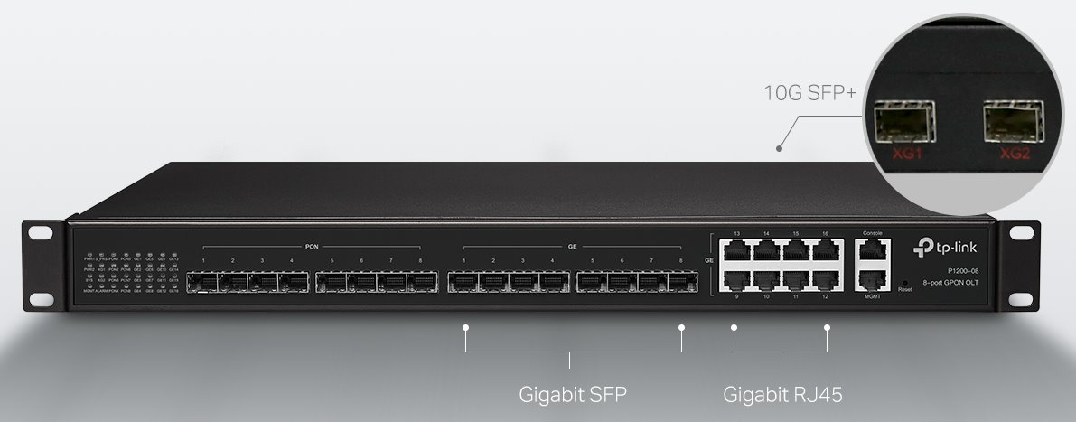 TP-Link P1201-08 - 8-port GPON OLT | Discomp - networking