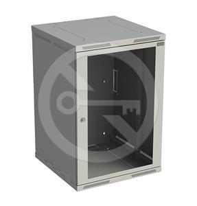 Solarix rozvaděč nástěnný SENSA 18U 600mm, dveře sklo, šedý