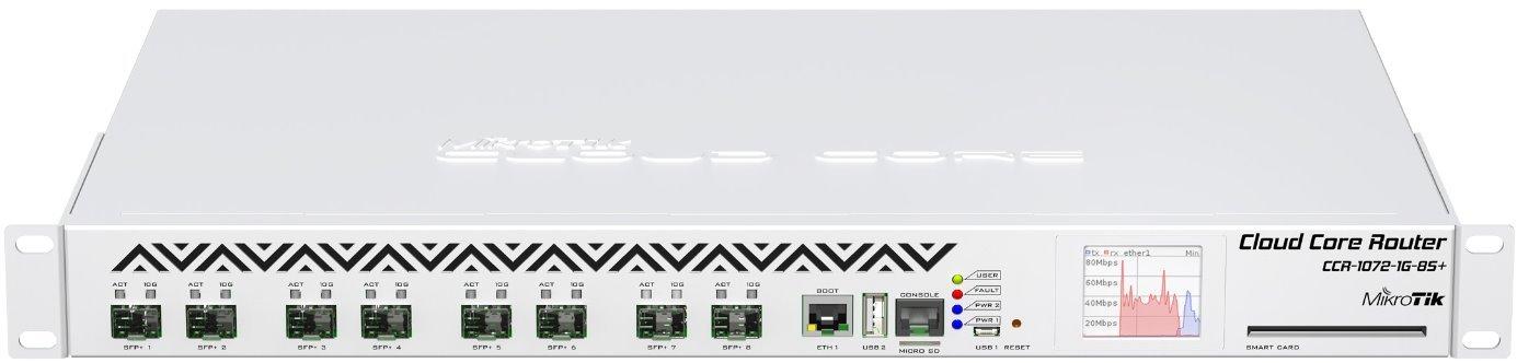 MikroTik Cloud Core Router, CCR1072-1G-8S+ | Discomp - networking