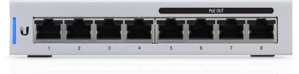 UBNT UniFi Switch, 8-Port, 4x PoE Out, 60W | Discomp - networking